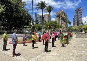 Hāpai ʻIa E Nā Alakaʻi Lāhui Hawaiʻi Ka Lāʻau Koʻokoʻo He Ala E 'Maluhia Ai Kākou No Kēia Mua Aʻe'