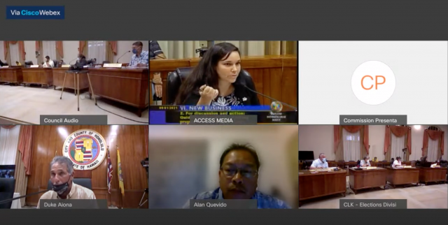 The Oahu Reapportionment Commission on Sept. 1, addressed concerns over creating a permitted interaction group and getting the meeting packets to the public and the commission in advance.