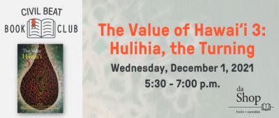 PSA – EVENT CB Book Club: Value of Hawaii 12/1/21