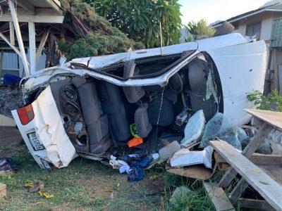 Passenger Says Honolulu Police Caused Makaha Crash That Injured 5