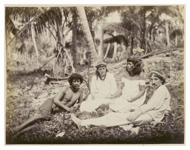 Robert Lewis Stevenson and friends, but not under a hau tree.