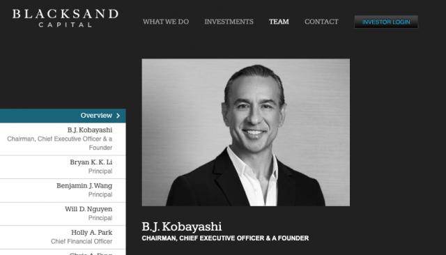 """Bert Akio """"BJ"""" Kobayashi is the chairman and CEO of BlackSand Capital."""